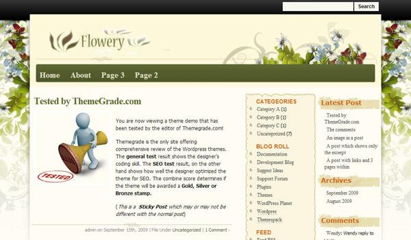 Flowery  Theme