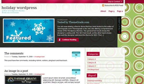 Holiday Wordpress