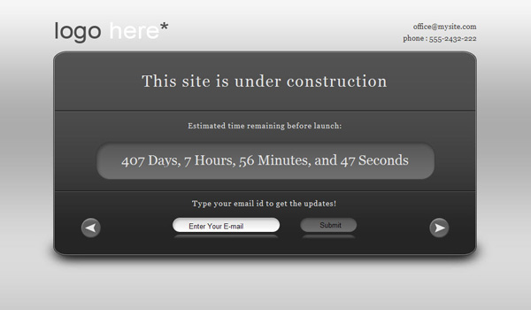 Site Under Construction Page