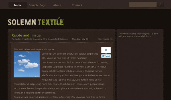 Solemn Textile