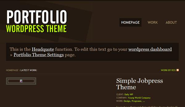 Portfolio Wordpress